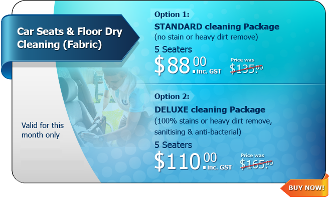 Hot Deal - Car Seats & Floor Dry Cleaning